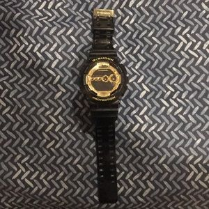 Black/Gold Gshock